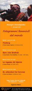 Locandina rassegna cinematografica Fotogrammi femminili dal mondo
