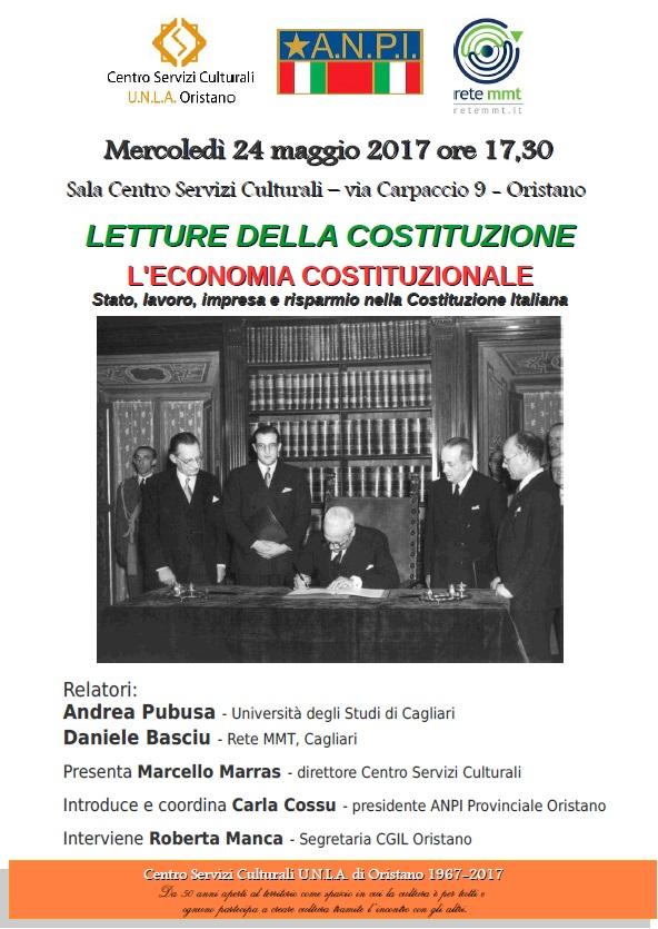 Locandina Letture della costituzione