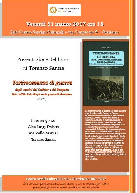 Locandina libro Testimonianze di guerra degli uomini del Guilcier
