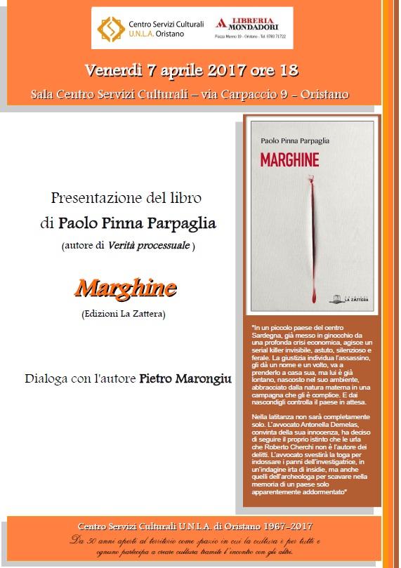 Locandina presentazione libro Marghine