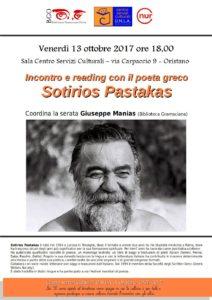 Incontro e reading con il poeta greco Sotirios Pastakas