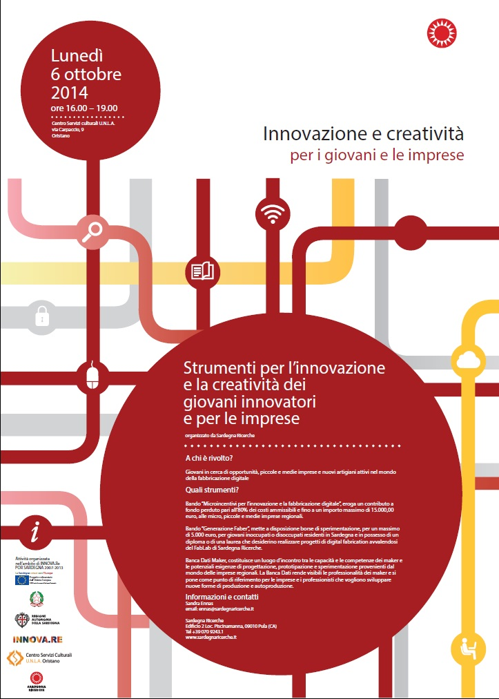 """""""Strumenti per l'innovazione e la creatività dei giovani innovatori e per le imprese"""