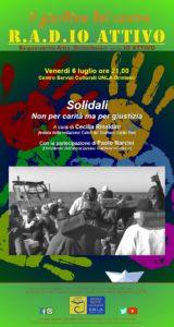 Solidali: Non per carità ma per giustizia