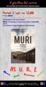 Presentazione del documentario Muri